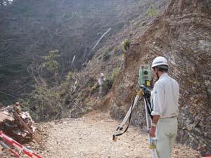 林道平面測量状況